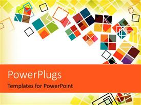 PowerPlugs: PowerPoint template with abstract colorful shapes over yellow and white