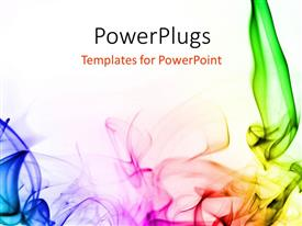 PowerPlugs: PowerPoint template with abstract colorful smoke on a white background