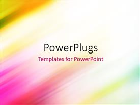 PowerPoint template displaying abstract colorful smooth colorful blurred abstract background with diagonal speed motion lines