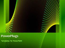 PowerPlugs: PowerPoint template with abstract colorful swirls on black background