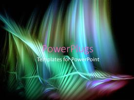 PowerPlugs: PowerPoint template with abstract colorful wave painting on a pitch black background