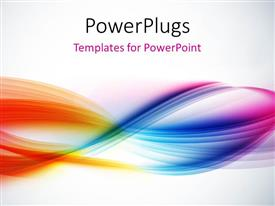 PowerPlugs: PowerPoint template with abstract colorful waves with light grey color