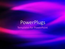 PowerPoint template displaying abstract cool background with mix of blue and purple