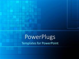 PowerPlugs: PowerPoint template with abstract dark blue color checks background