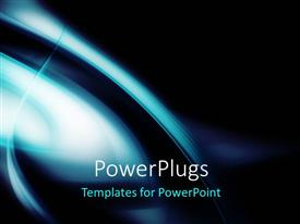 PowerPlugs: PowerPoint template with abstract dark curves ans shades