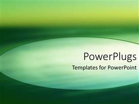 PowerPoint template displaying abstract dark green background with elliptical shape