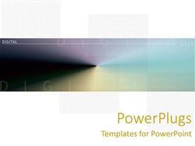 PowerPlugs: PowerPoint template with abstract depiction of colors with Digital text on a white background