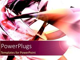 PowerPlugs: PowerPoint template with abstract depiction of different colored strokes on a white background