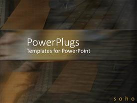 PowerPlugs: PowerPoint template with abstract depiction of different shades on a blurry colored background