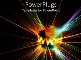 PowerPlugs: PowerPoint template with abstract depiction of an earth with different colorful lights