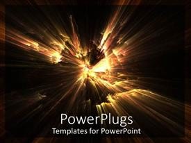 PowerPoint template displaying abstract depiction of flashing fire lights on black background