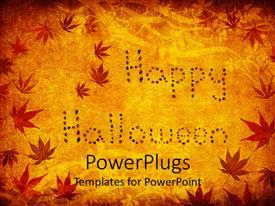 PowerPlugs: PowerPoint template with abstract depiction of floral design on a yellow background