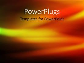 PowerPlugs: PowerPoint template with abstract depiction of gold green red and black color