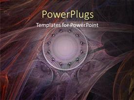 PowerPlugs: PowerPoint template with abstract depiction of hazy multi colored lines and balls