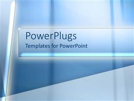 PowerPoint template displaying abstract depiction of illuminated bars on a blue background