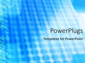 PowerPlugs: PowerPoint template with abstract depiction of light blue background with underground lights
