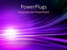 PowerPlugs: PowerPoint template with abstract depiction with light glow in purple wavy background