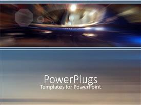 PowerPlugs: PowerPoint template with abstract depiction of lights and light spots in blurred vision