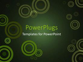PowerPlugs: PowerPoint template with abstract depiction of lots of green circles on a green background