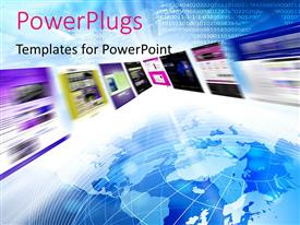 PowerPlugs: PowerPoint template with a globe with a number of screens