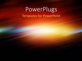 PowerPlugs: PowerPoint template with abstract depiction with motion blur and diagonal light waves