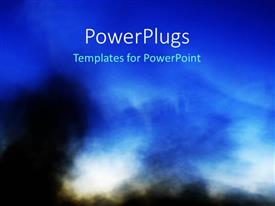 PowerPlugs: PowerPoint template with a bluish background with a lot of smoke