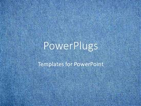 PowerPlugs: PowerPoint template with abstract depiction of a plain blue colored cloth background