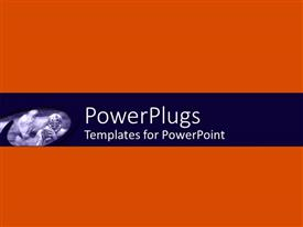 PowerPlugs: PowerPoint template with abstract depiction of a plain orange back ground board