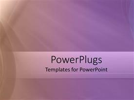 PowerPlugs: PowerPoint template with abstract depiction of a plain purple background