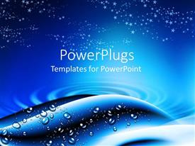 PowerPlugs: PowerPoint template with abstract depiction of a water ripple and water droplets