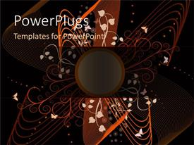 PowerPlugs: PowerPoint template with an abstract design of flowers and lines on a black background