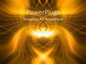 PowerPlugs: PowerPoint template with abstract design of glowing lines of yellow and black