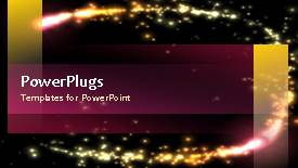 PowerPoint template displaying abstract template design with sparkling lights video on first slide and text on next slides