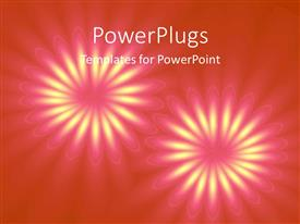 PowerPlugs: PowerPoint template with an abstract design of two flowers on an orange background