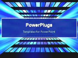 PowerPoint template displaying abstract digital animated background with glowing lights