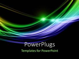 PowerPlugs: PowerPoint template with abstract digital concept with elegant curves