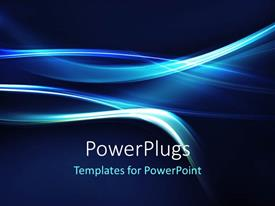 PowerPlugs: PowerPoint template with abstract electric blue curves on dark background