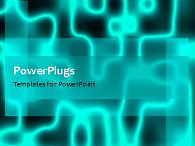 PowerPoint template displaying abstract electric energy movement with black color