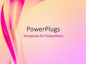 PowerPlugs: PowerPoint template with abstract elegant background with pink waves