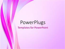 PowerPlugs: PowerPoint template with abstract elegant curves background design