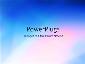 PowerPlugs: PowerPoint template with abstract elegant smooth blue background design