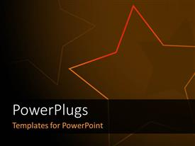 PowerPlugs: PowerPoint template with abstract elegant star background in black and brown