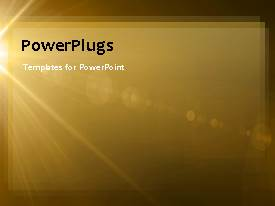 PowerPlugs: PowerPoint template with abstract flare motion effect