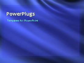 PowerPlugs: PowerPoint template with abstract floating movement with blue color