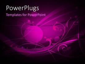 PowerPlugs: PowerPoint template with abstract floral background with purple theme and beautiful design