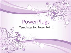 PowerPlugs: PowerPoint template with an abstract floral design on a purple and white colored background
