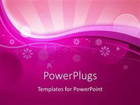 PowerPoint template displaying abstract flower shapes