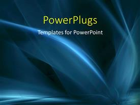 PowerPlugs: PowerPoint template with abstract flowing curves in blue over a black background