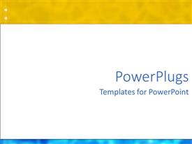 PowerPlugs: PowerPoint template with abstract fuse yellow and blue frames with white background
