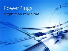 PowerPlugs: PowerPoint template with abstract futuristic design in blue color